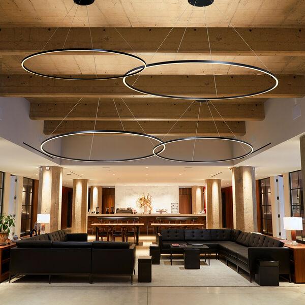 Tania Black 60-Inch LED Adjustable Chandelier, image 3