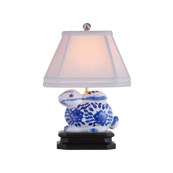 Blue and White Bunny Table Lamp, image 1