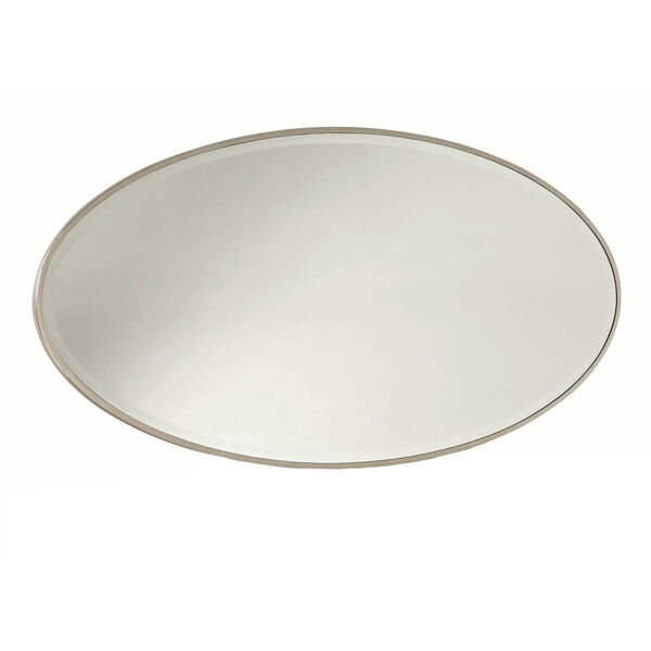 Alexandra White Oval Mirror, image 1