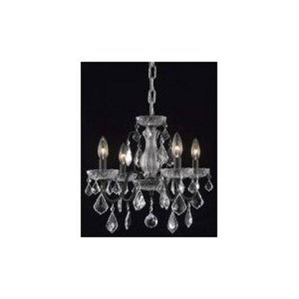 St. Francis Dark Bronze Four-Light Chandelier with Clear Royal Cut Crystals, image 1