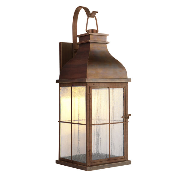 Vincent Weathered Copper LED Outdoor Wall Lantern, image 1