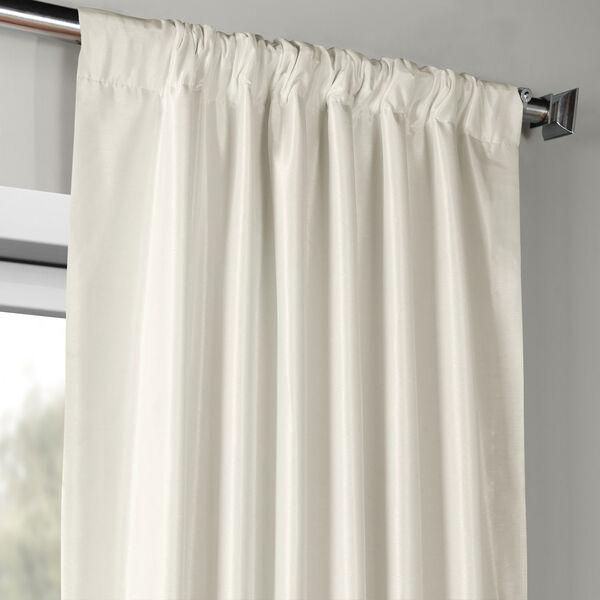 Off White Vintage Textured Faux Dupioni Silk Single Panel Curtain, 50 X 96, image 3