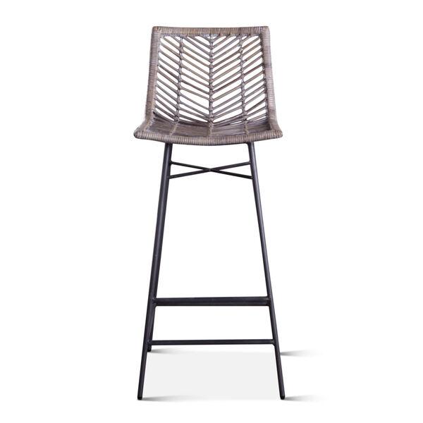 Bali Gray Whitewash Bar Chair, Set of 2, image 1