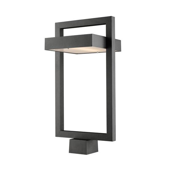Luttrel Black LED Outdoor Post Mount, image 1