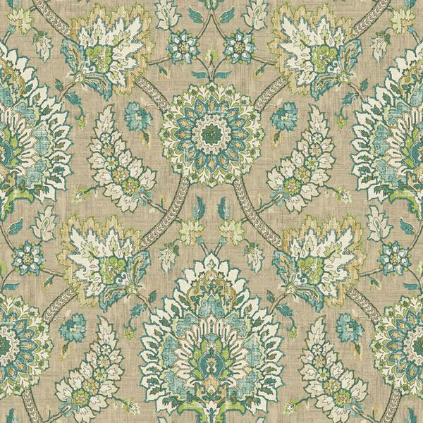 Waverly Classics I Clifton Hall Removable Wallpaper Brown Wallpaper- Sample Swatch Only, image 1