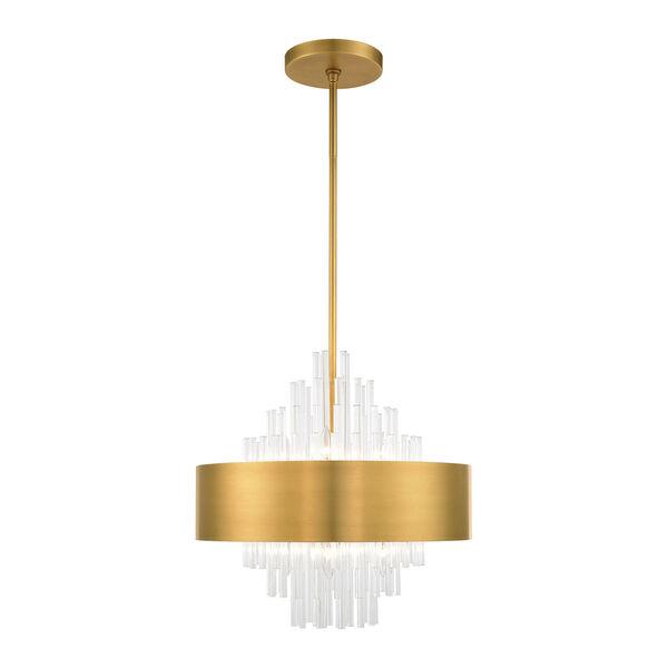 Orenburg Natural Brass Eight-Light Pendant, image 3