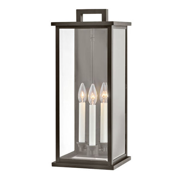 Weymouth Oil Rubbed Bronze Three-Light Outdoor Wall Mount, image 1
