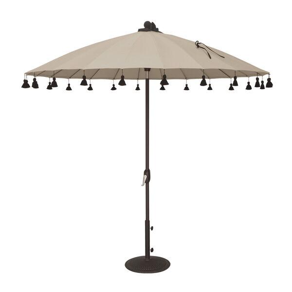 Isabela Antique Beige 8.5-Feet Round Auto Tilt Umbrella, image 1