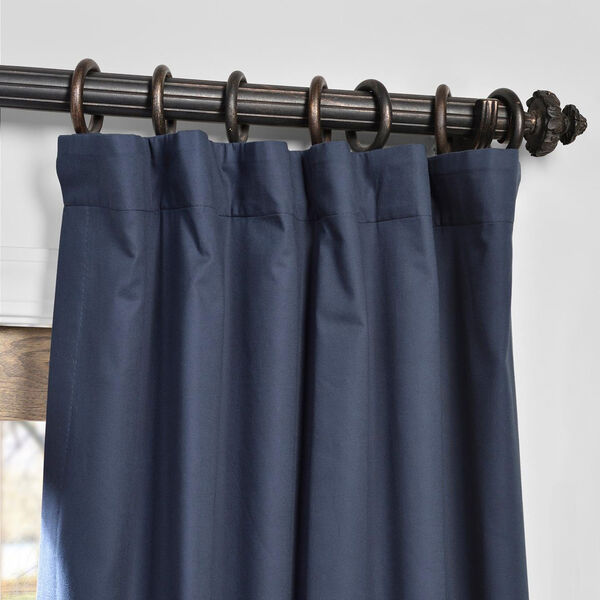 Polo Navy 50 x 84-Inch Solid Cotton Blackout  Curtain, image 2