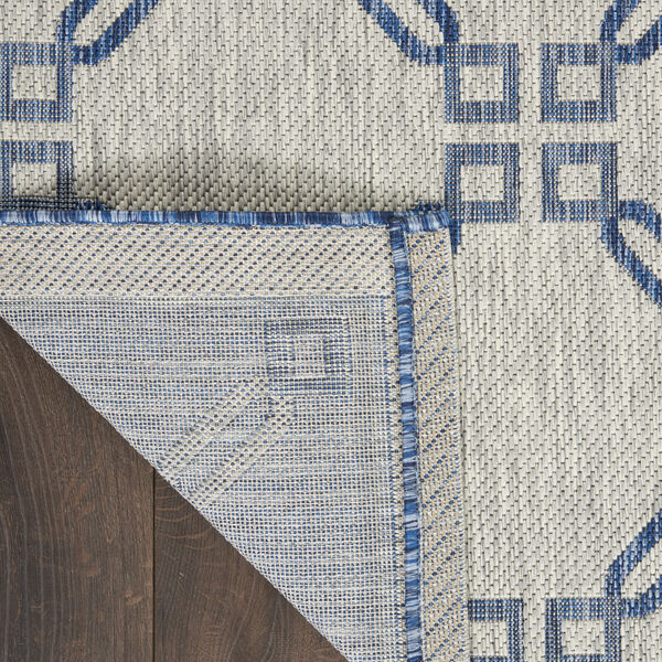 Garden Party Blue and Ivory 7 Ft. x 10 Ft. Indoor/Outdoor Rectangle Area Rug, image 3