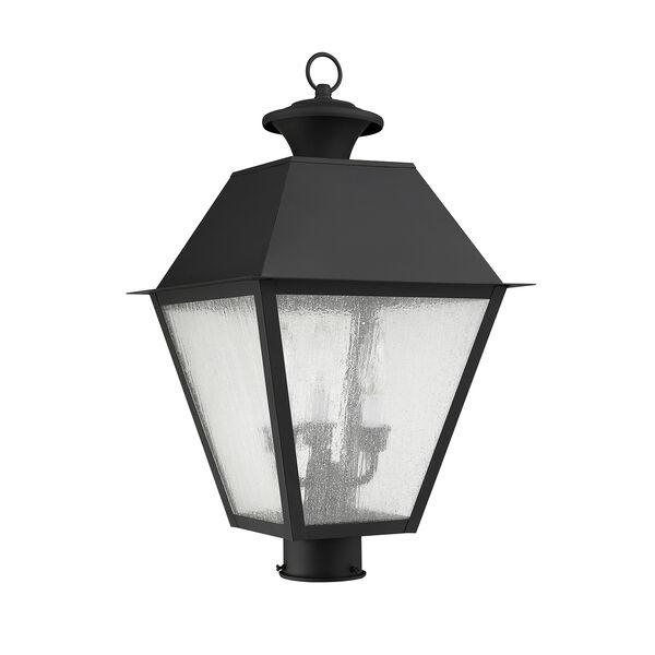 Mansfield Black Three-Light Outdoor Post Head, image 3