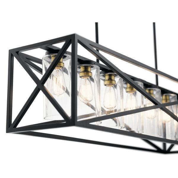 Moorgate Black 12-Inch Seven-Light Linear Pendant, image 2