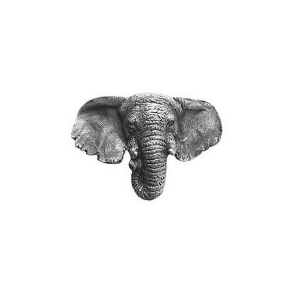 Antique Pewter Goliath Elephant Knob , image 1