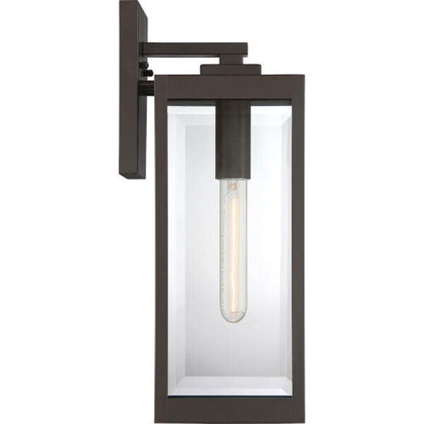 Pax Bronze 17-Inch One-Light Outdoor Lantern with Beveled Glass, image 5