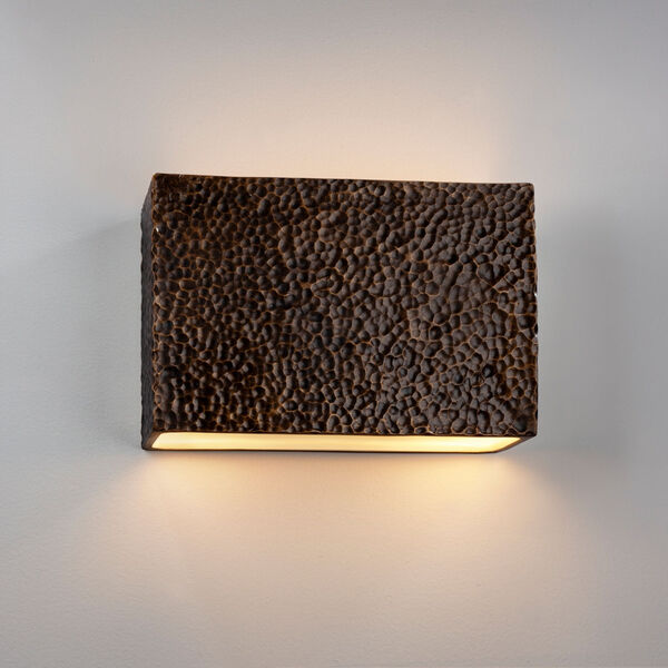 Ambiance ADA LED Outdoor Large Ceramic Rectangle Wall Sconce, image 2