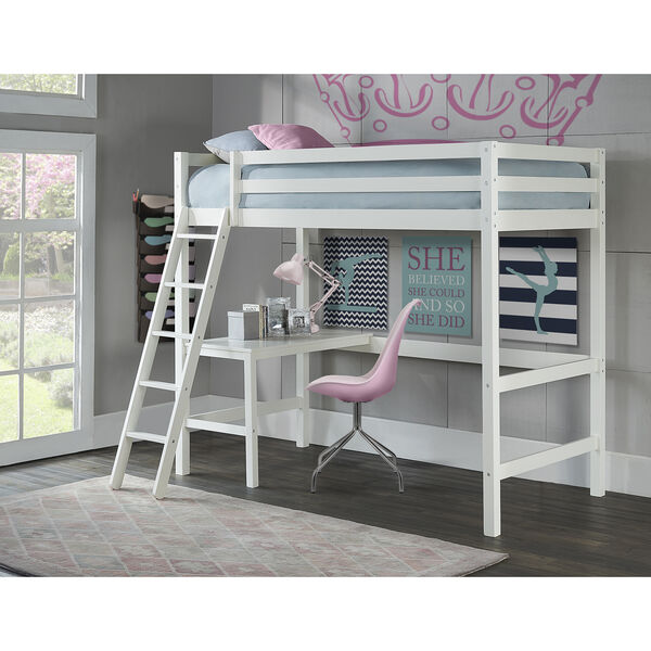 Hillsdale Caspain Twin Study Loft, White, image 1