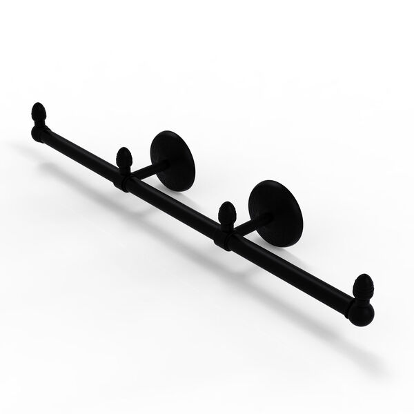 Monte Carlo Matte Black Four-Inch Three Arm Guest Towel Holder, image 1