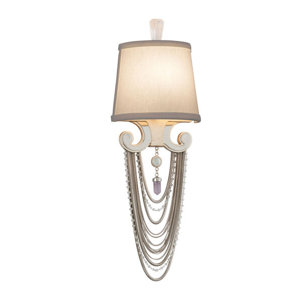 Flirt Modern Silver Leaf with Polished Stainless Accents One-Light Wall Sconce, image 1