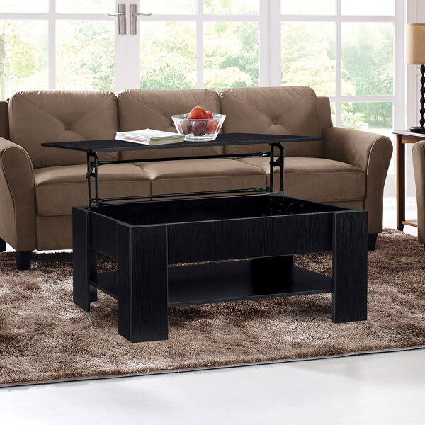Black 24-Inch Coffee Table, image 4