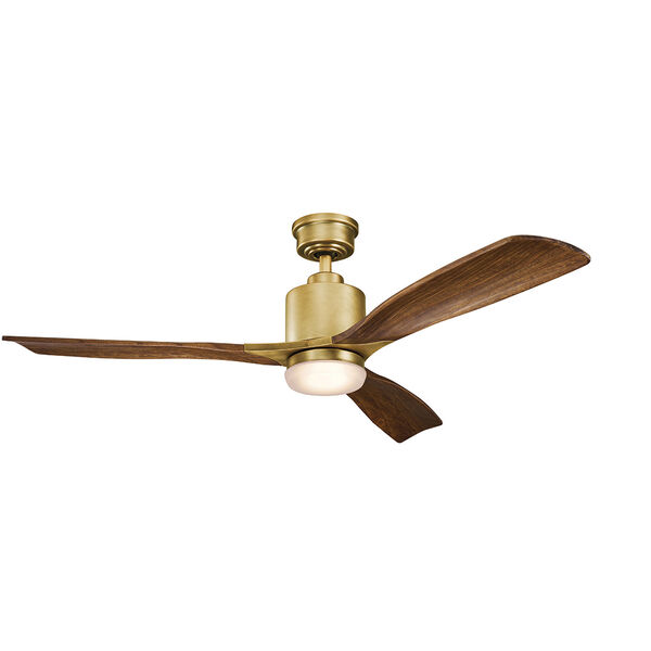 Ridley II Natural Brass 52-Inch LED Ceiling Fan, image 1