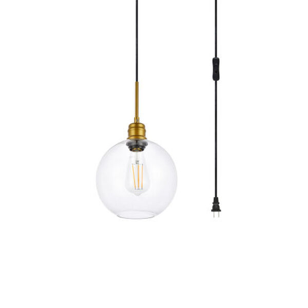 Emett Brass One-Light Plug-In Pendant, image 3