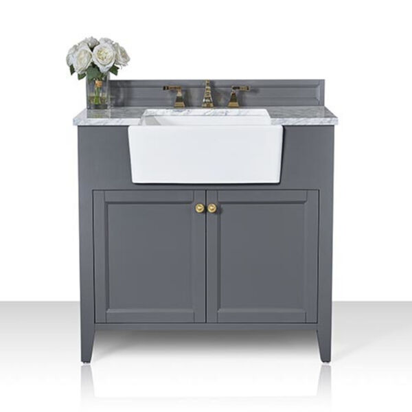 Adeline Sapphire 36-Inch Vanity Console with Farmhouse Sink, image 3