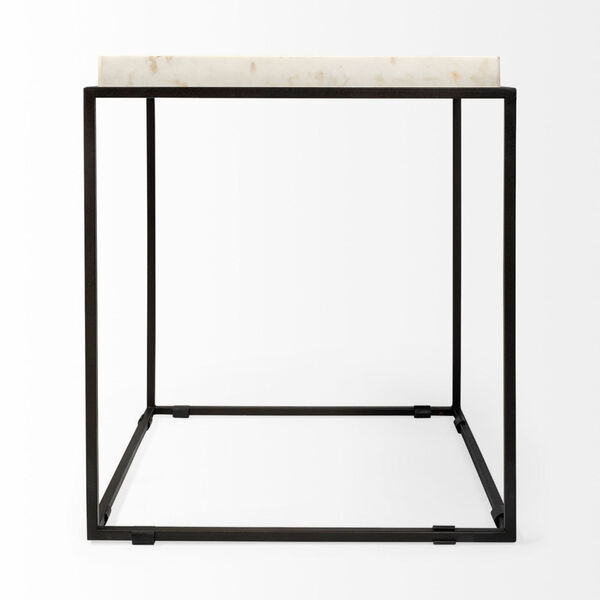 Nathan II Black and White Square Top End Table, image 4