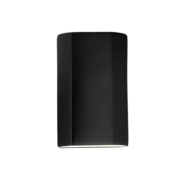 Ambiance Carbon Matte Black ADA Closed Top GU24 LED Cylinder Outdoor Wall Sconce, image 1