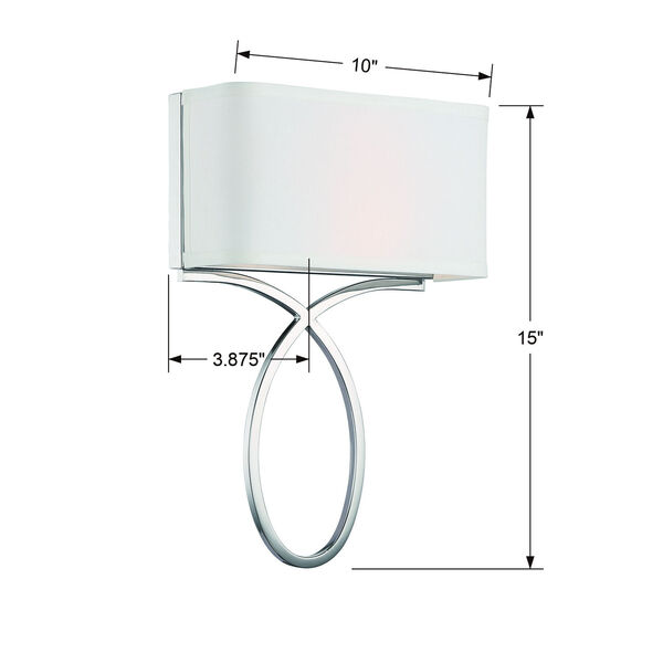 Brinkley Polished Nickel 10-Inch Two-Light Wall Sconce, image 4