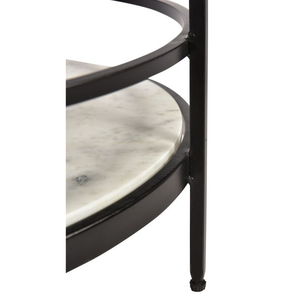Black and White Round Accent Table, image 5