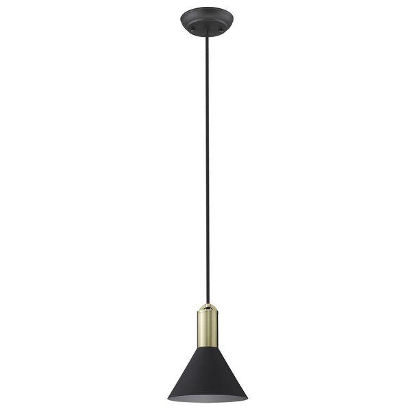 Ingo Matte Black Six-Inch One-Light Mini Pendant, image 1