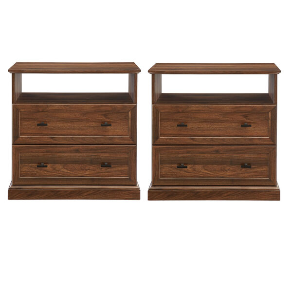Clyde Dark walnut Two Drawer Nightstand, Set of Two, image 4