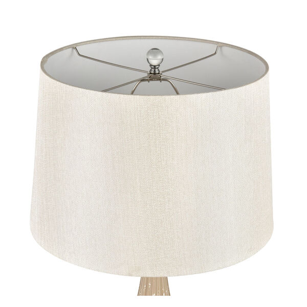 Mariani Salted Caramel and Clear One-Light Table Lamp, image 3