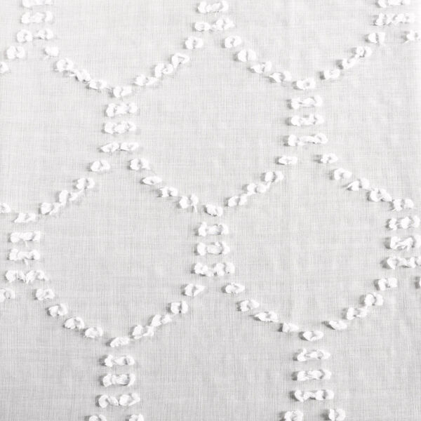 White Shell Patterned Faux Linen Sheer 84 x 50 In. Curtain Single Panel, image 6