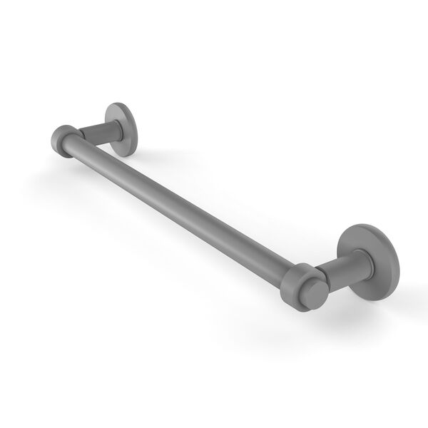 Continental Matte Gray 30-Inch Towel Bar with Groovy Detail, image 1