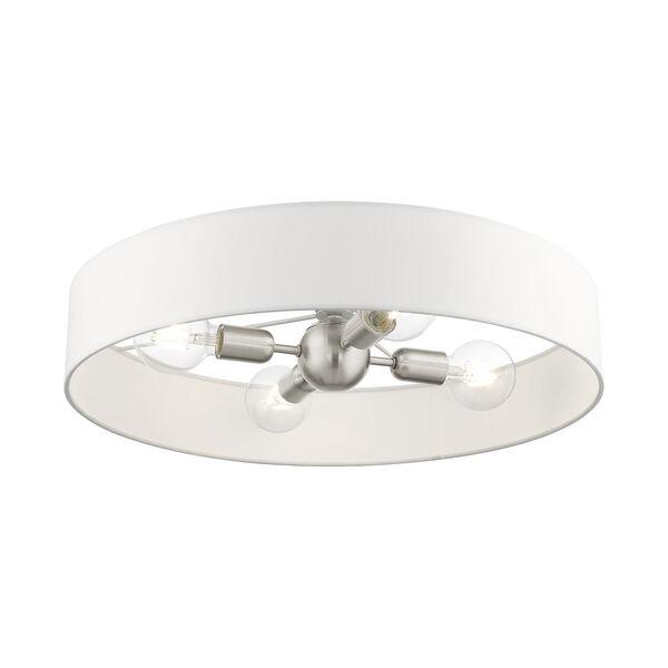 Venlo Brushed Nickel 22-Inch Four-Light Semi Flush, image 4