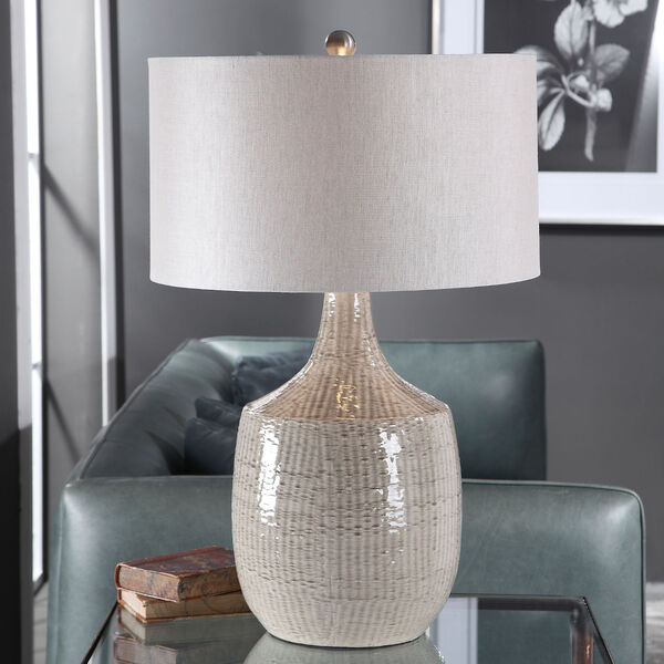 Felipe Brushed Nickel and Gray Table Lamp, image 2