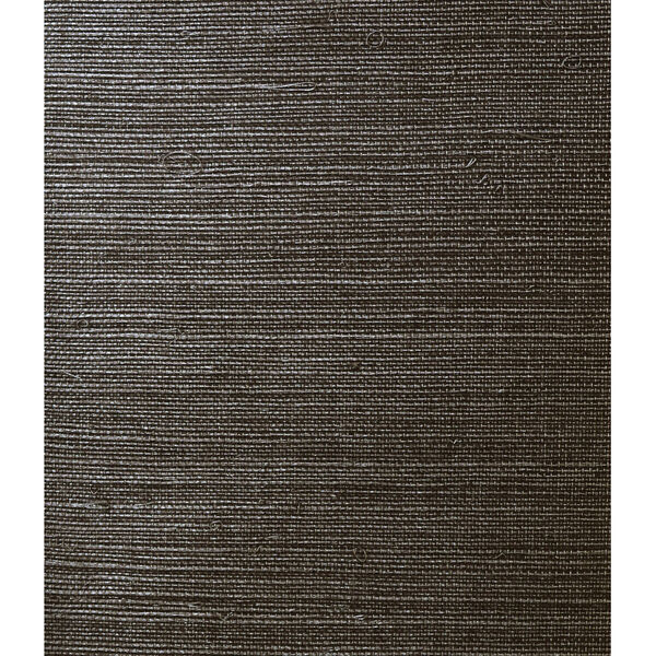 Lillian August Luxe Retreat Onyx Sisal Grasscloth Unpasted Wallpaper, image 1
