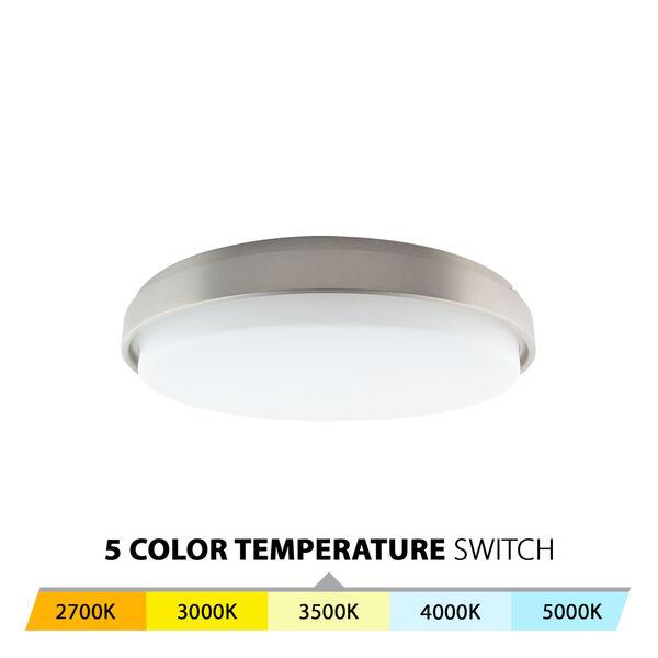 Lithium Brushed Nickel 19-Inch LED EM Backup Battery Flush Mount, image 3