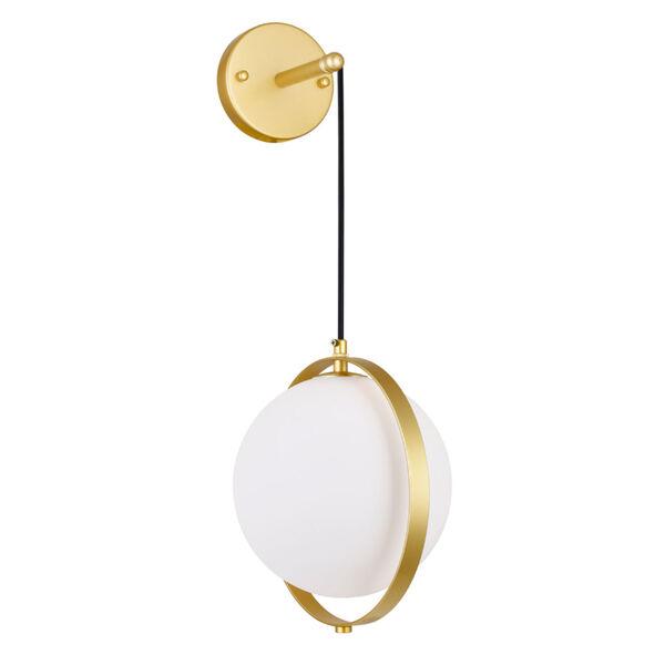Da Vinci Brass 29-Inch LED Wall Sconce, image 1