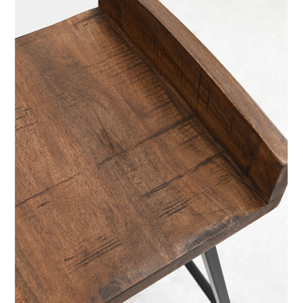 Pennie Caramel Brown and Black Counterstool, image 6