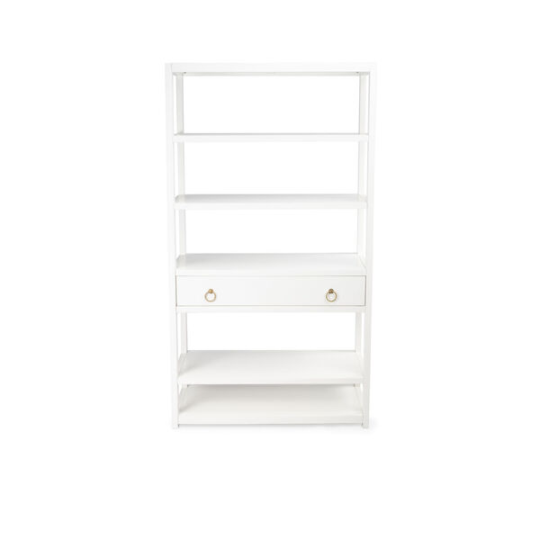Lark White 39-Inch Rectangular Bookshelf, image 4