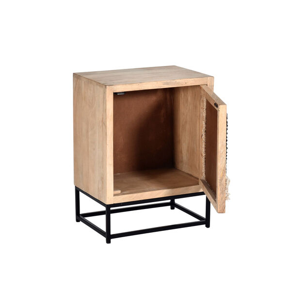 Layover Tan and Black 13-Inch Nightstand, image 3
