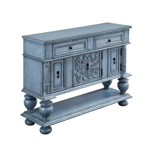 Blue Two Drawer Sideboard, image 1