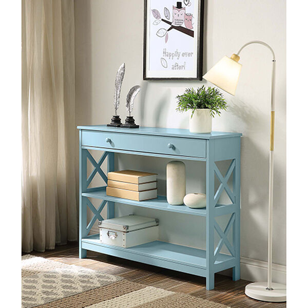 Oxford Sea Foam One Drawer Console Table, image 3