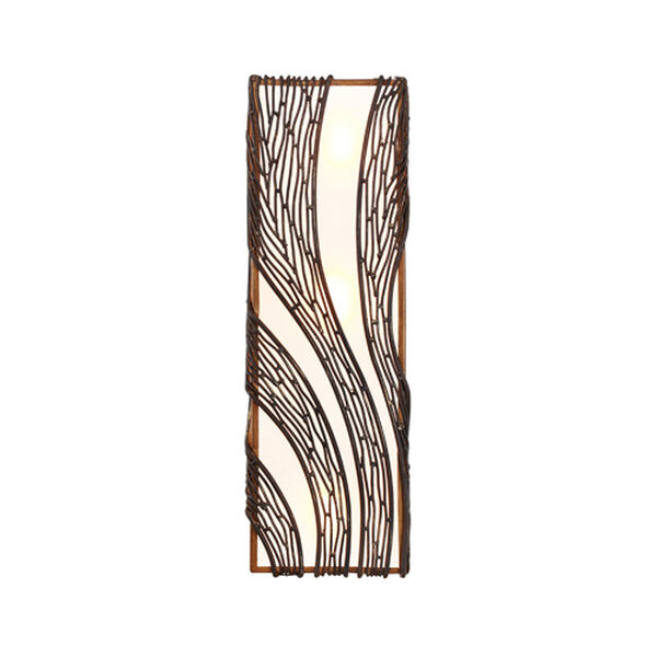 Flow Hammered Ore Three Light Wall Sconce, image 4