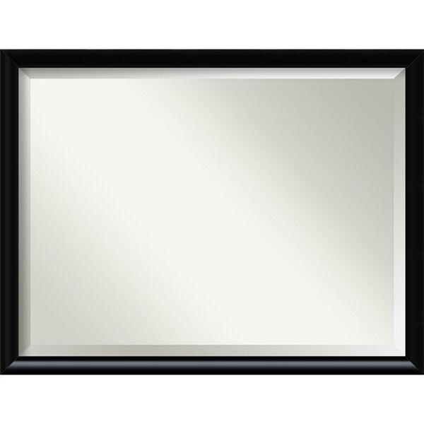 Steinway Black Scoop 33 x 43 In. Wall Mirror, image 1