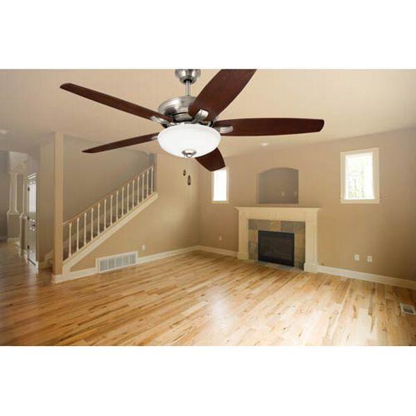Pro Series Brushed Steel Three Light Ceiling Fan, image 3