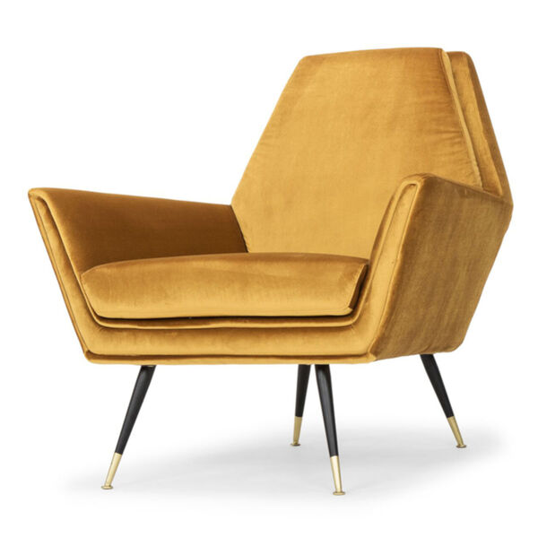 Vanessa Mustard and Black Occasional Chair, image 6