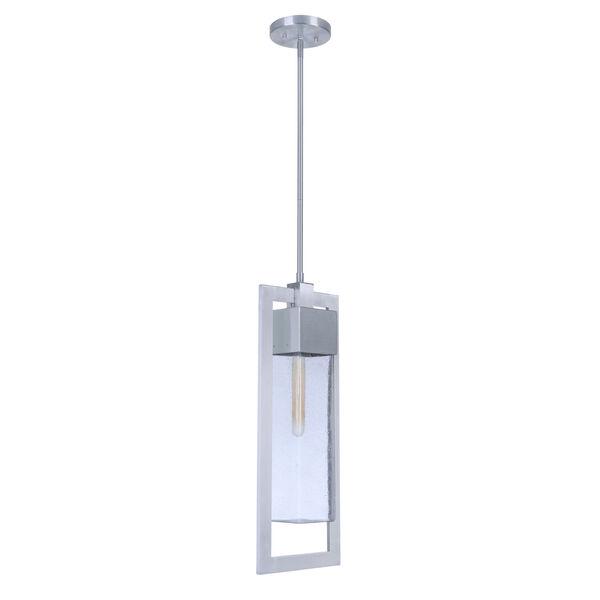Perimeter Satin Aluminum One-Light Outdoor Mini-Pendant, image 1
